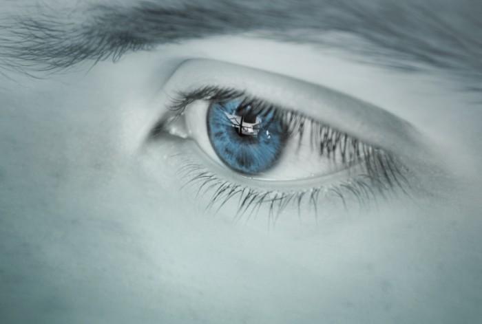 Голубой глаз, макро, лицо, девушка   Blue eye, macro, face, girl