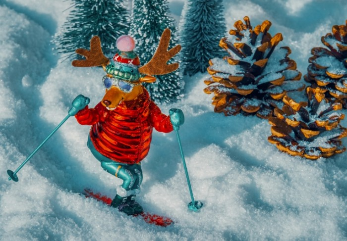 Olen na lyizhah igrushka novyiy god Deer skiing toy new year 4563  3181 700x487 Олень на лыжах, игрушка, новый год   Deer skiing, toy, new year